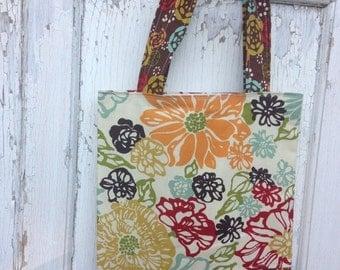 40% OFF- Floral Tote Bag-Library Bag