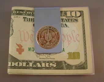 Vintage Authentic Copper Arizona Tax Token Cactus Money Clip Man Gift, Wedding, Groomsman Gift, Fathers Day Gift