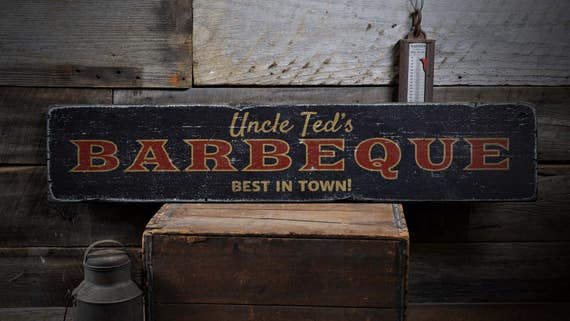 Barbeque Sign Custom Wood Sign For Backyard Bbq Best Bbq In