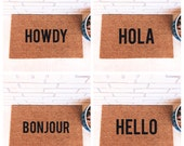 You Choose Your Fav. Natural CoCo Coir Fiber Modern Tagged Outdoor Welcome Mat Custom doormat