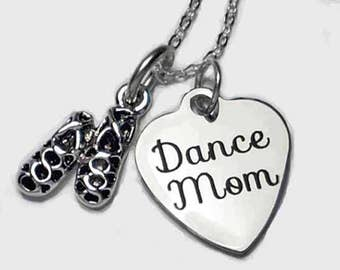 "Irish or Highland Dance Mom Necklace with Pair of Ghillies on 18"" Sterling Silver Cable Chain Gift Boxed"