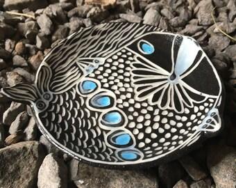 Mod Porcelain Fish Whale dish tea tray