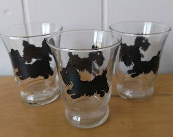 small vintage scotty dog glasses