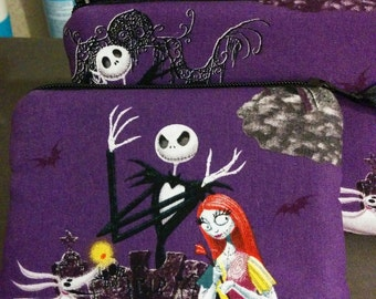 Nightmare Before Christmas Zippered Coin Pouch Bank Card Holder Anime Cosplay
