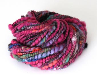 Handspun Yarn Corespun Merino Angelina Silks Nylon 94g 48 Yards