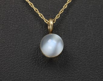 reserved for michelebaker..........Vintage! 14K Yellow Gold and Moonstone Tiny Pendant