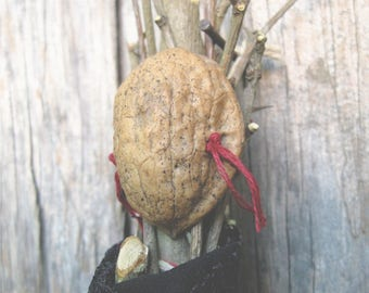 Large Custom Nature Spirit - Art Doll - Pagan Assemblage - Natural Magic - God or Goddess Figure - Rustic Primitive Decor - One of a Kind