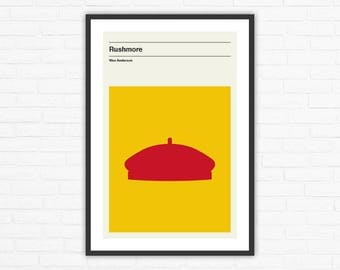 Wes Anderson, Rushmore Minimalist Movie Poster