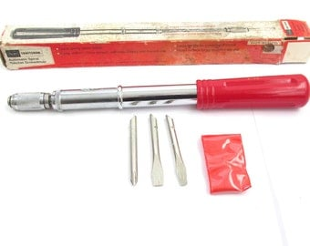 Sears Craftsman Spiral Ratchet Screwdriver Vintage Old Hand Tool Tools with Original Box