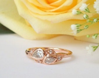 Double Pear Blossom Ring
