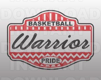 Warrior Pride School Spirit Basketball SVG File -Commercial & Personal Use- Vector Art SVG For ...