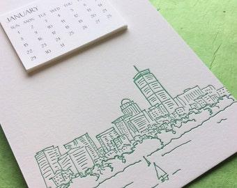 Boston Cityscape 2017 Postcard Calendar