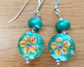 Artisan Lampwork Beaded Earrings