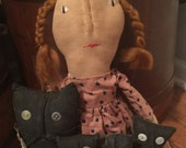 CustomerAppreciationSale Primitive Doll Katie with Cats