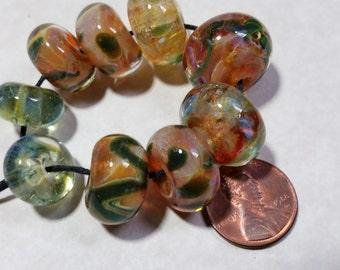 Lampwork Borosilicate Beads HONEY Two Sisters Designs 102316E