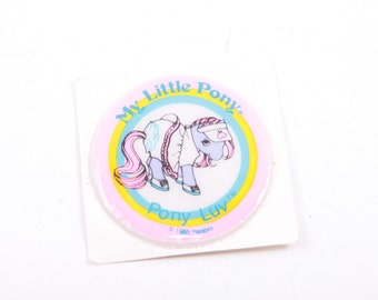 My Little Pony, Vintage, Puffy Sticker, Pony Luv, Accessory, Unused, Round Sticker, Came with Ponies ~ The Pink Room ~ ~ 161220