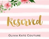 Reserved for Roytrice Flower Girl Dress RO