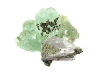 Rough Fluorite Chunks - (2x) (NS721)