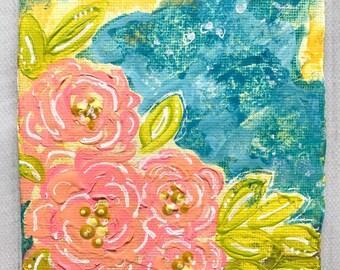 Spring Break - 4x4 Original Art