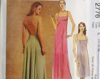 Misses Sewing Pattern McCalls 2776 Misses Dress Pattern Evening Gown Pattern Size 14, 16, 18 Uncut