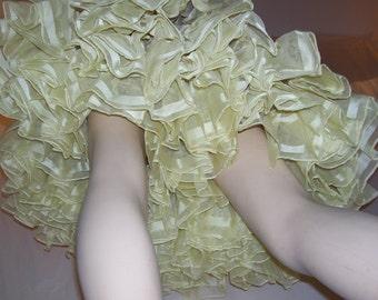 Sheer Yellow Crinoline Vintage Mardi Gras Costume Slip Petticoat vtg Tutu Petticoat Halloween Square Dance Skirt Butter Yellow Adult S M L