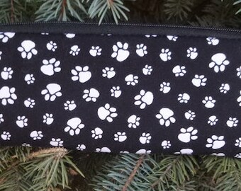 Paw prints padded zippered glasses case with d-ring, The Spex