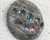 Raku Ceramic Cabochon Raku Jewelry Supplies Handmade by MAKUstudio