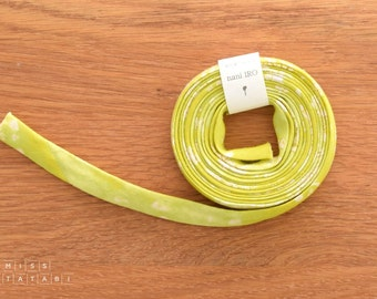 Nani Iro Kokka Japanese Double Gauze Bias Tape - Lei Nani - yellow, tender green - 2.3m roll
