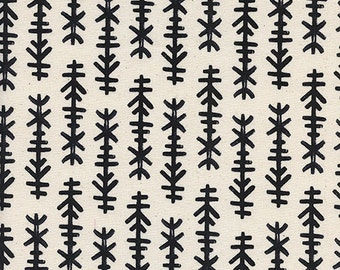 Cotton + Steel Black and White - chimes - natural - fat quarter