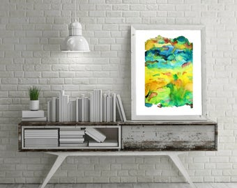 Abstract Landscape, Watercolor Art Print, Watercolor Print, Watercolor Painting, Abstract Watercolor, Abstract Art Print