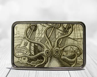 Kraken Belt Buckle Octopus Sea Monster Buckle Father's Day