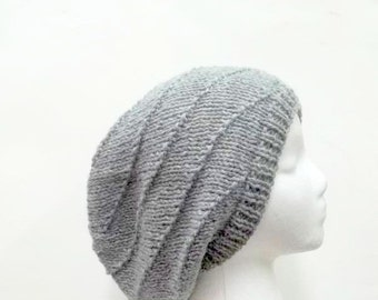 Knit oversized beanies in swirl pattern     5213