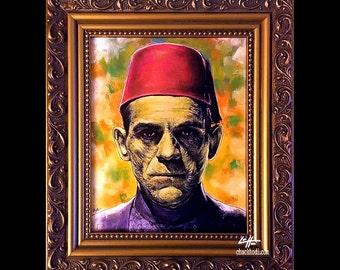 Imhotep - Original Drawing - The Mummy Frankenstein Portrait Dracula Classic Monster Horror Halloween Pop Gothic Vintage Dark Art Lowbrow