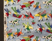 Cats and Dogs Fabric by Nancy Wolff Designs - Quilt Fabric -  1 Yard
