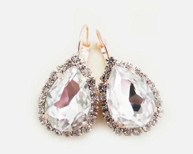Vintage Drop Crystal Earrings