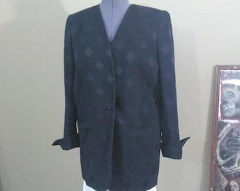 Vintage 80s black minimal oversized blazer