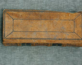 Antique Leather General Store Ledger Book 1854 to 1856