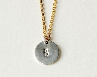 Womens Personalized Initial Necklace, Custom Monogram, Initial Jewelry, Personalized Jewelry, Custom Jewellery, Hand Stamped, Gift Mothers