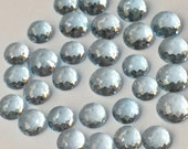 Aquamarine 5mm Gemstone Cabochon Rose Cut Micro Faceted FOR ONE