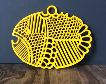 Dansk Trivet - Yellow Fish Trivet