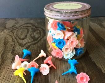 Vintage Jar and Cake Decoration Candle Holders