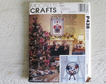 Vintage Uncut McCall's Crafts P438 Heart & Sole A Country Angel Christmas Pattern