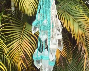 CRYSTAL VISIONS NECKPIECE ~ choose your color  ~ clear quartz