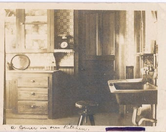 Vintage Snapshot A Corner in Our Kitchen Tender Personal Interior with Soul