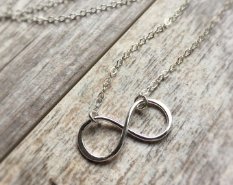 Infinity Necklace Fine Silver Necklace Geometric Symbol Infinity Jewelry Bridesmaid Gifts Sterling Silver Jewelry Sterling Necklace