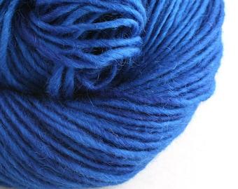 Brunswick Hand Dyed chunky weight 70/30 Corriedale wool Mohair blend yarn 140 yds 4oz Sapphire
