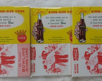 Vintage Coca- Cola Papers. BOWLING Score Card