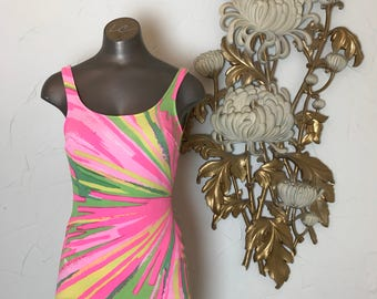 1960s swimsuit psychedelic swimsuit vintage swimsuit one piece swimsuit vintage bathing suit size small