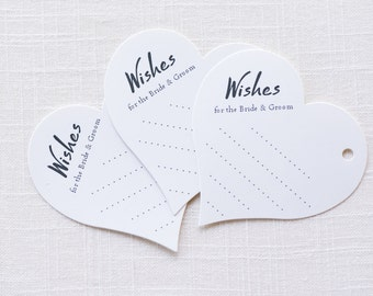 Advice Cards - White Heart Wish Tags - Country Wish Tags - Wish Tree Tags - Rustic Wishing Tree Tags - Wishing Well Tags