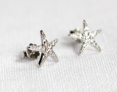 Silver Starfish Post Earrings/Classic Style/Sealife Earrings